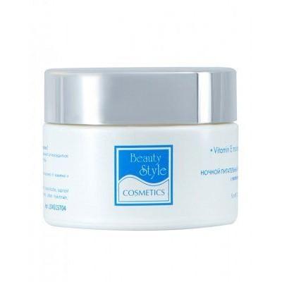 Ночной питательный увлажняющий крем с витамином Е «Аква 24» Beauty Style, 50 мл.