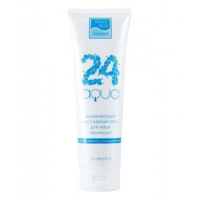 Увлажняющий массажный крем для лица / без масла «Аква 24» Beauty Style, 250 мл.