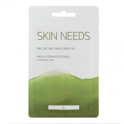 Маска-пленка для лица зеленым чаем Skin Needs