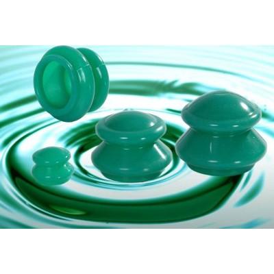 Банки для вакуумного массажа из силикона (4 шт в уп)