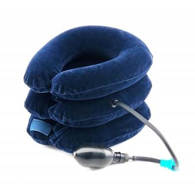 Лечебный надувной воротник для шеи (материал флок)