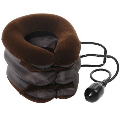 Воротник лечебный для шеи с тремя трубками (флок + ткань)