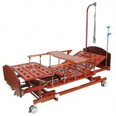 Кровать механическая E-31 (ММ-3024Н-00) (3 функции) с ростоматом и полкой