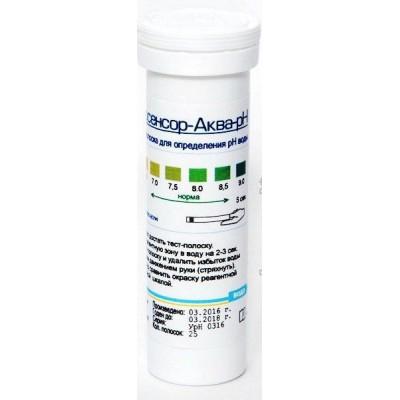 Биосенсор Аква-рН: тест-полоски для определения pH воды 50 шт