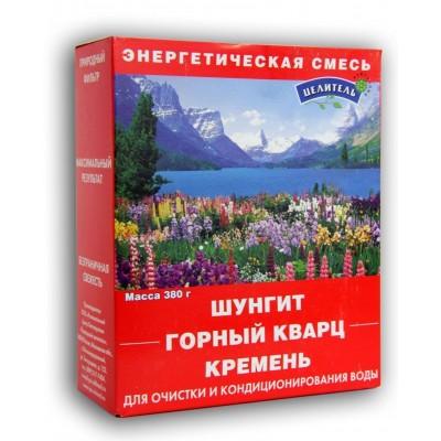 Энергетическая природная смесь 3-х природных минералов 380 г (шунгит,горный кварц,кремень)