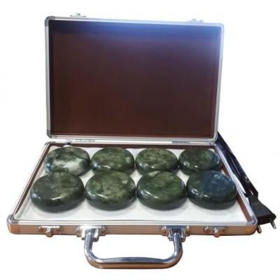 Набор камней в кейсе 8 шт нефрит с подогревом