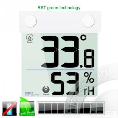 Цифровой термометр-гигрометр на липучке с солнечной батареей